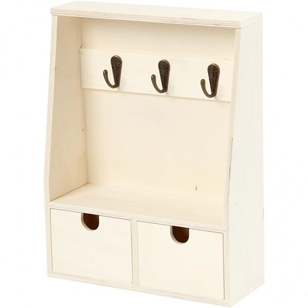 Schlüsselbrett mit Schubladen Holz
