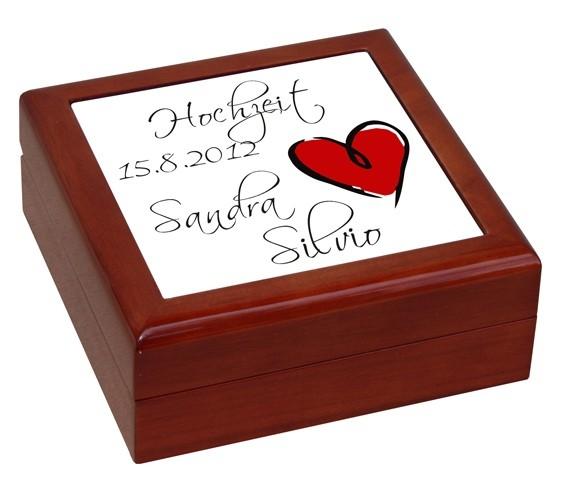 Hochwertiges Geschenkkästchen mit Hochzeitsdruck