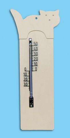 """Thermometer """"Katze"""" zum bemalen"""