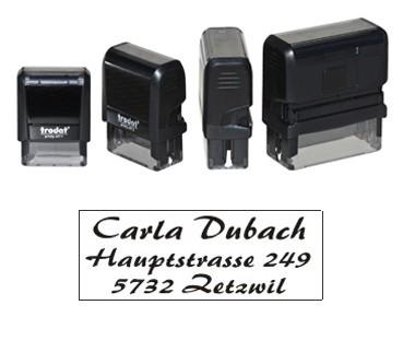 """3 Zeilen Stempel mit """"Spreitenbach"""""""