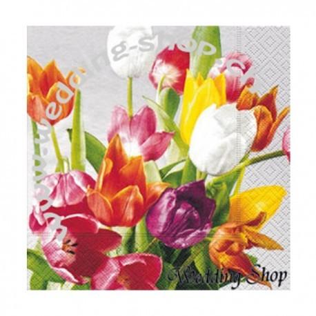 Servietten 'Tulpen'