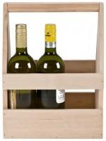 Bierträger, Flaschenträger, Herrenhandtasche Holz