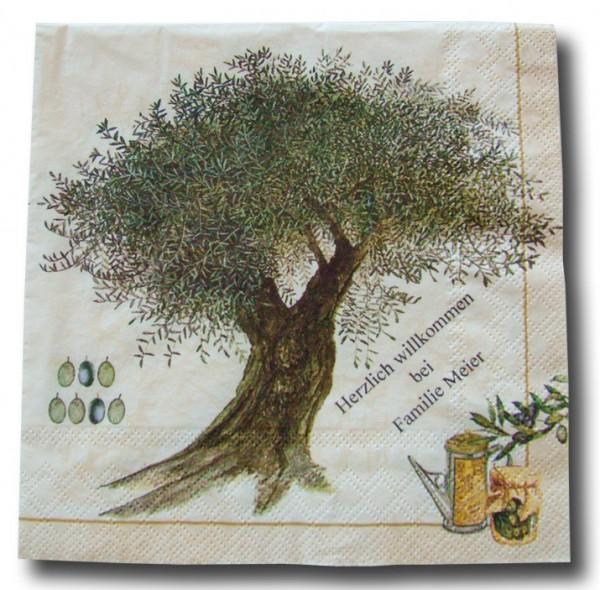Olivenbaum Servietten,ohne Druck