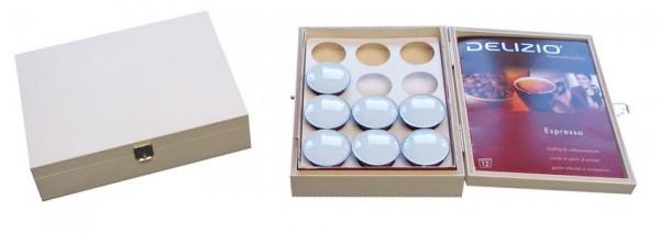 Deliziobox Holz, Kaffeekapselbox Holzbox