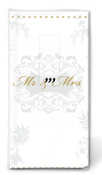 Papiertaschentuch Mr & Mrs