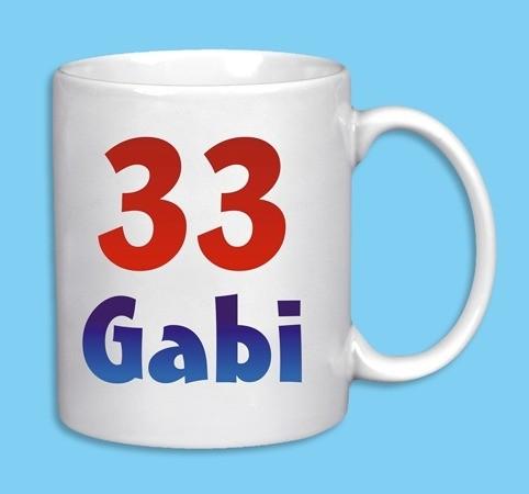 Geburtstags Tasse mit Namen und Jahreszahl