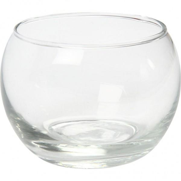 Teelicht Glas rund