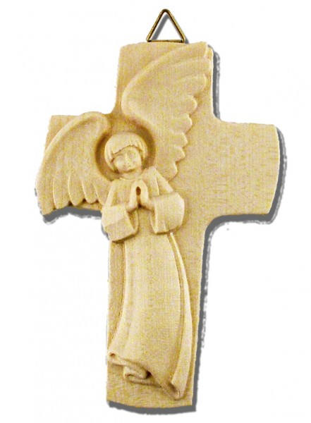 Holzkreuz mit Schutzengel