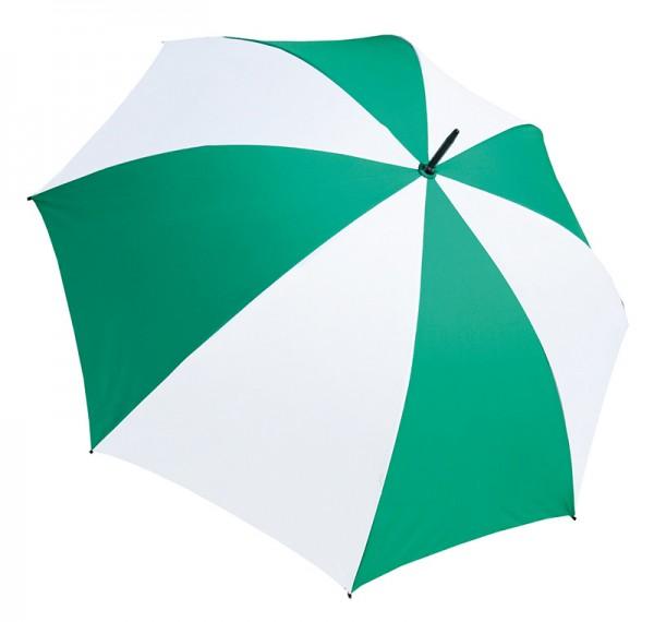 Jumbo Schirm Ø130cm grün/weiss OHNE Druck