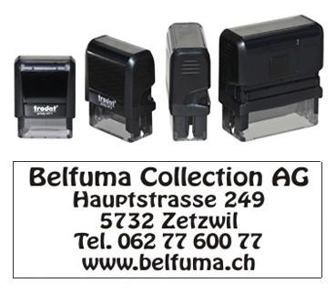 """5 Zeilen Stempel mit """"Solothurn"""""""