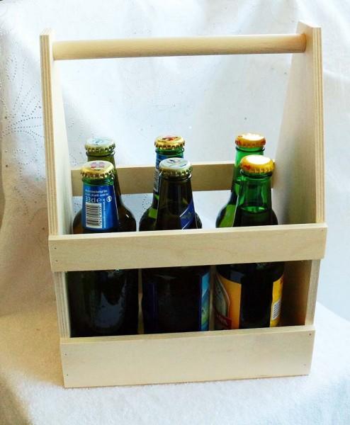 Flaschenträger, Herrenhandtasche aus Birkensperrholz