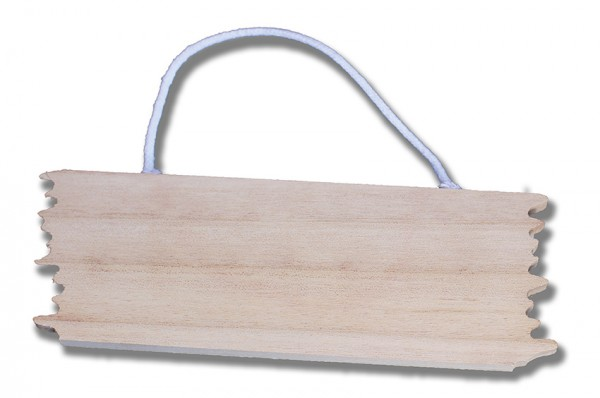 Holzschild 16x5,5 cm, zum Hängen