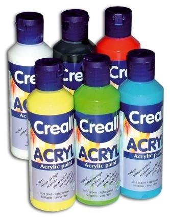 6er Set gut deckende Acrylfarbe, Creall, Inhalt je 80ml