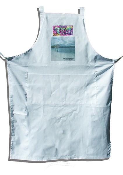 Küchenschürze mit Fronttaschen, inkl. Druck